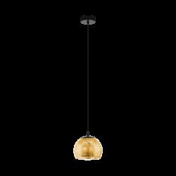Black - Gold Pendant Single Light Ø19cm 1x40W E27 ALBARACCIN Eglo