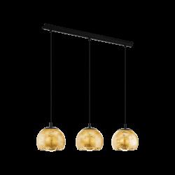 Black - Gold Pendant Multi Lights 3x40W E27 ALBARACCIN Eglo