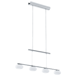 LED Pendant Light In Chrome With Opal Glass - 4x 4.5W DIMMABLE ALEANDRO 1 Eglo