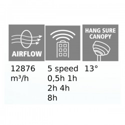 Ceiling Fan From Steel With Three Plastics Blades And Remote Control Ø132cm 31,5W LAGOS 52 - Eglo