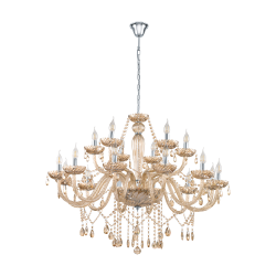 Classic Pentant Multi Lights Chandelier In Cognac Color Ø100cm 18x 40W E14 BASILANO Eglo