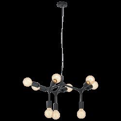 Black Pendant Multi Lights Ø64cm 9x60W E27 BOCADELLA Eglo