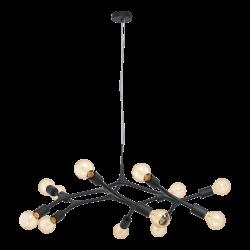Black Pendant Multi Lights Ø92cm 12x60W E27 BOCADELLA Eglo