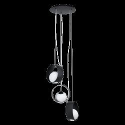 Black - White Pendant Multi Lights 3x40W E14 CAMARGO Eglo