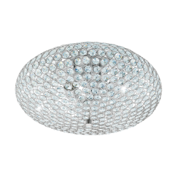 Ceiling Light With Crystals Ø45cm 3 x E27 60W CLEMENTE Eglo