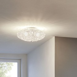Ceiling Light With Crystals Ø35cm 2 x E27 60W CLEMENTE Eglo