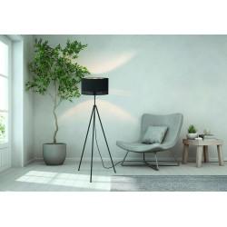 Floor Lamp With Fabric Hat Gold - Black 1x E27 ESTEPERRA - Eglo