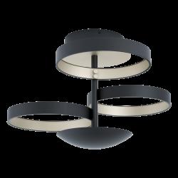 LED Πλαφονιέρα Αλουμινίου Μαύρη ø54cm 33,8W Dimmable GROMOLA Eglo