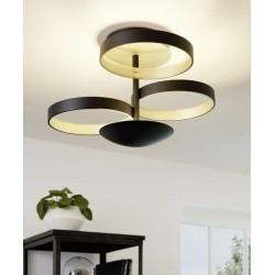 Ceiling Light Aluminium In Black Color ø54cm 33,8W Dimmable GROMOLA Eglo