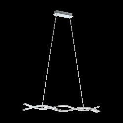 LED Pendant Light In Chrome - White 1000cm 3x 13W 3000K LASANA 2 Eglo