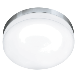 LED Ceiling Light In Chrome and Opal Glass Ø32cm 16W IP54 LORA Eglo