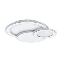 Ceiling - Wall Lamp In Chrome - White Round CCT MENTALURGIA- Eglo