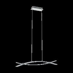 LED Pendant Light Chrome-White 3x 9W 3000K NEVADO Eglo