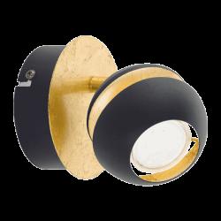Spot light In Black-Gold Color 1xGU10 LED 1x3,5W NOCITO Eglo