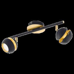 Spot light In Black-Gold Color 2xGU10 LED 2x3,3W NOCITO Eglo