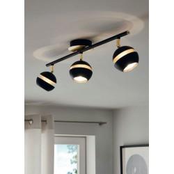 Spot light In Black-Gold Color 3xGU10 LED 3x3,3W NOCITO Eglo