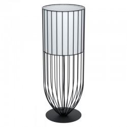 Table Lamp Black Metallic With White Fabric Ø22cm 1x60W E27 NOSINO Eglo