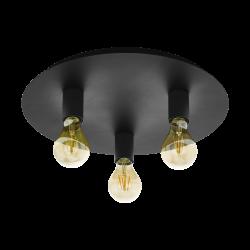 Ceiling Light Black Ø45cm 3x E27 60W PASSANO 1 Eglo