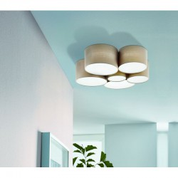 Ceiling Light In Taupe Color ø99cm 6x40W PASTORE 1 Eglo
