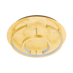 LED Πλαφονιέρα Σε Χρυσό Χρώμα ø38cm 18W POZONDON Eglo