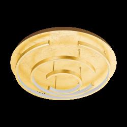 LED Πλαφονιέρα Σε Χρυσό Χρώμα ø52cm 24W POZONDON Eglo