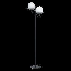 Φωτιστικό Δαπέδου Δίφωτο Με Γυαλί Οπάλ Ματ 155,5cm 2 x E27 40W SABALETE Eglo
