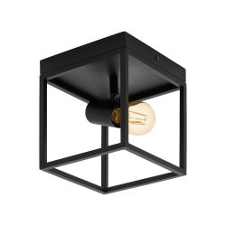 Ceiling Light Black 18cm 1x E27 40W SILENTINA Eglo