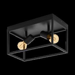 Ceiling Light Black 36cm 2x E27 40W SILENTINA Eglo