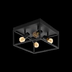 Ceiling Light Black 36x36cm 4x E27 40W SILENTINA Eglo
