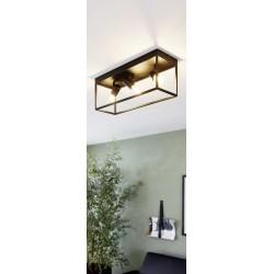 Ceiling Light Black 54cm 3x E27 40W SILENTINA Eglo