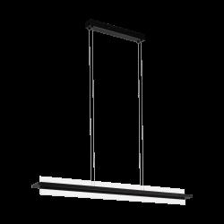 LED Κρεμαστό Φωτιστικό Αλουμινίου Μαύρο 18W 3000K SPADAFORA Eglo