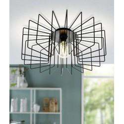 Ceiling Light Black ø56cm 1x E27 28W TREMEDAL Eglo