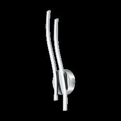 LED Απλίκα Αλουμινίου Χρωμέ -Λευκή 2x 5W 3000K VALMORA Eglo