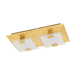 LED Ceiling - Wall Light In Gold Color 2x 2,5W 180lm 3000K VICARO 1 Eglo