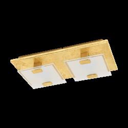 LED Φωτιστικό Τοίχου - Οροφής Σε Χρυσό Χρώμα 2x 2,5W 180lm 3000K VICARO 1 Eglo