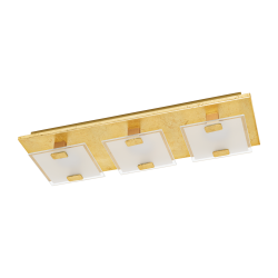 LED Ceiling - Wall Light In Gold Color 3x 2,5W 180lm 3000K VICARO 1 Eglo