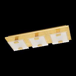 LED Φωτιστικό Τοίχου - Οροφής Σε Χρυσό Χρώμα 3x 2,5W 180lm 3000K VICARO 1 Eglo