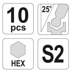 Σετ Άλλεν 10 τμχ Long ή Extra Long - Yato Tools