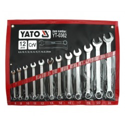 Combination Spanner Wrench Set 8 – 24 mm 12pcs YT-0362 - Yato Tools