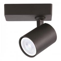 Σποτ Τοίχου Μονό Στρογγυλό GU10 Φ60X120X135 Μαύρο ή Λευκό - Eurolamp
