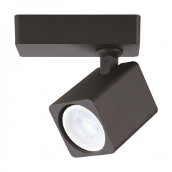 Σποτ Τοίχου Μονό Τετράγωνο GU10 120X60X135 Μαύρο ή Λευκό - Eurolamp