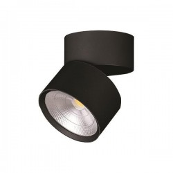 Φωτιστικό Κινητό Οροφής Κύλινδρος LED 15W 4000K Μαύρο ή Λευκό PLUS - Eurolamp