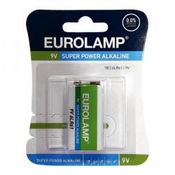 Μπαταρία Αλκαλική 9V 6LR61 - Eurolamp