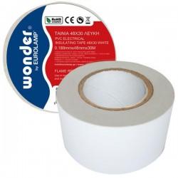 Wonder Insulating Τape 48Χ30 Black Or White Eurolamp