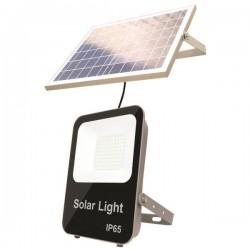 Προβολέας LED SMD Ηλιακός 20W IP65 DC6V 4000K ΜΑΥΡΟΣ PLUS - Eurolamp