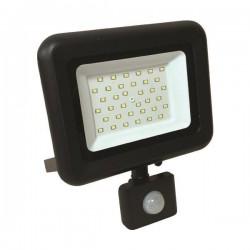 Προβολέας LED SMD Με Περιστρεφόμενο Ανιχνευτή Κίνησης PLUS 30W Μαύρος IP44 PLUS - Eurolamp