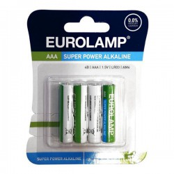 Μπαταρία Αλκαλική 1.5 V ΑΑΑ LR03 - Eurolamp