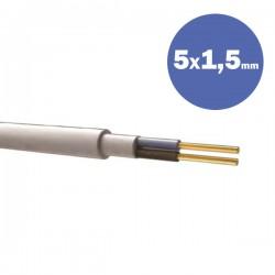 Καλώδιο NYΜ H05VV-U 5Χ1.5MM2 - Eurolamp