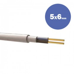 CABLE NYΜ H05VV-R 5Χ6MM2 (DRUM) - Eurolamp