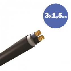 CABLE NYY J1VV-U 3X1.5MM2 - Eurolamp